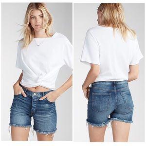 Express midi vintage hi rise shorts